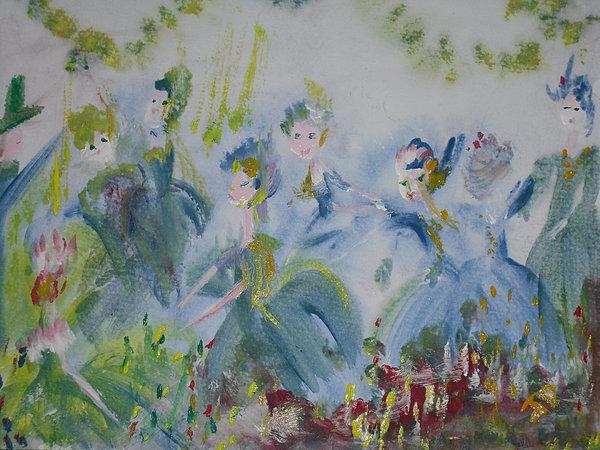 Merry Waltz Print by Judith Desrosiers