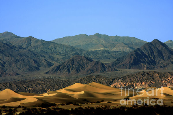 Mesquite Flat Sand Dunes - Death Valley National Park Ca Usa Print by Christine Till