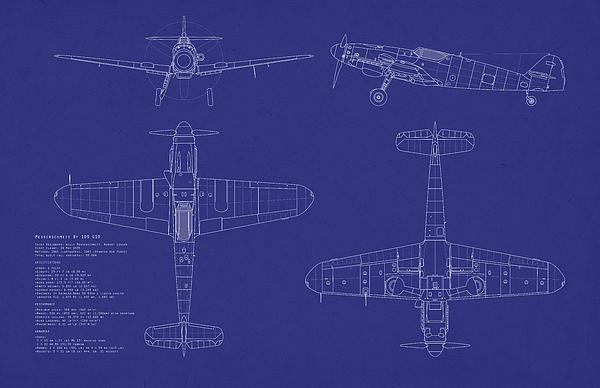Messerschmitt Me109 Print by Michael Tompsett