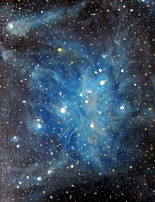 Messier 45 Pleiades Constellation Print by Alizey Khan