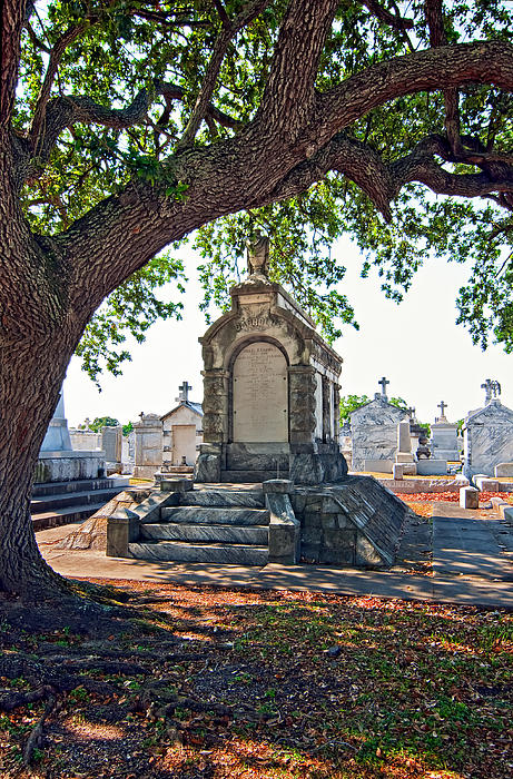 Metairie Cemetery Print by Steve Harrington
