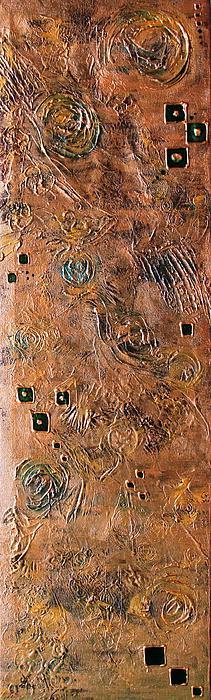 Metallic Abstract Print by Srijanani Sundararajan