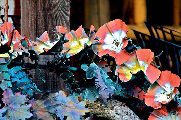 Metallic Poppies Print by Karon Melillo DeVega