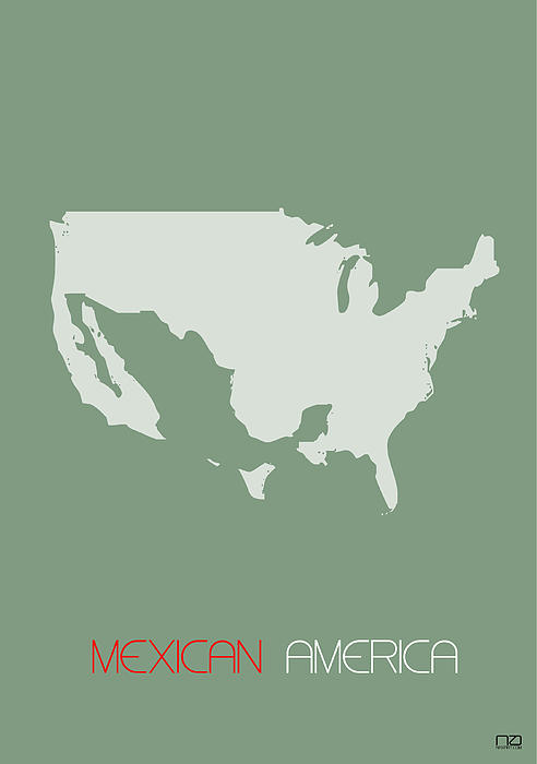 Mexican America Poster Print by Naxart Studio