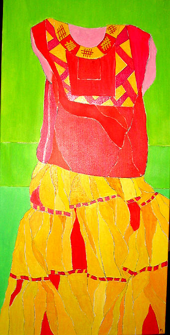 Mexican Wedding Dress Painting Martin Silverstein