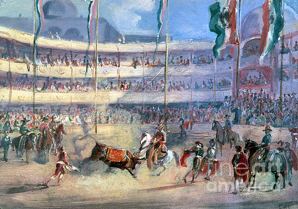 Mexico: Bullfight, 1833 Print by Granger