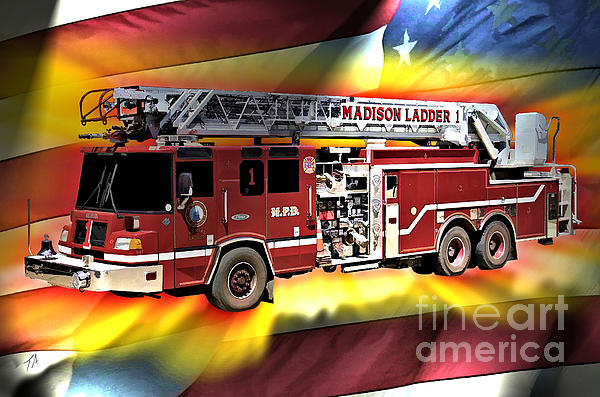Mfd Ladder Co 1 Print by Tommy Anderson