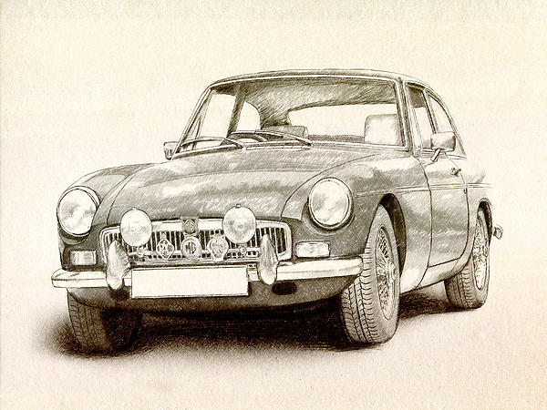 Mg Mgb Mkii Print by Michael Tompsett