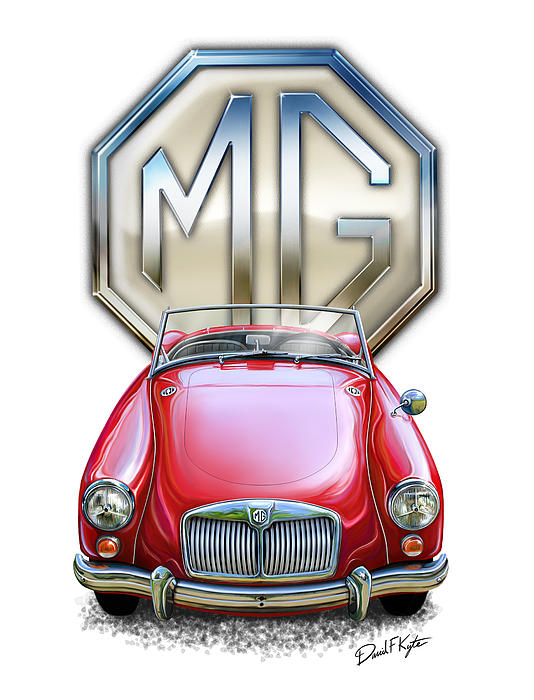 Mga Sports Car In Red Print by David Kyte