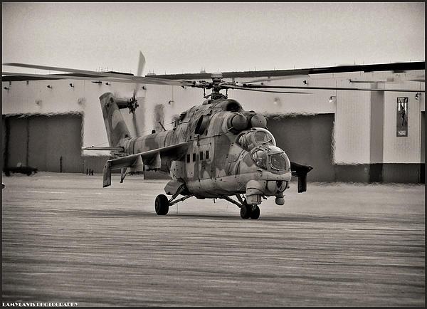 Mi-24 Hind D  Print by Lamyl Hammoudi