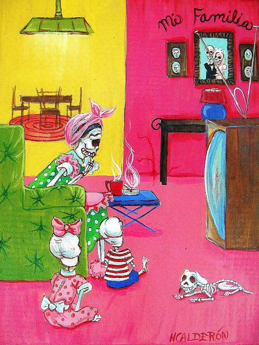Mi Familia Print by Heather Calderon
