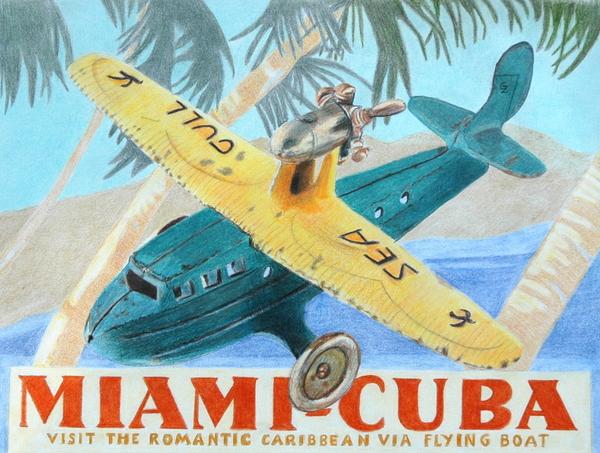 Miami-cuba Print by Glenda Zuckerman