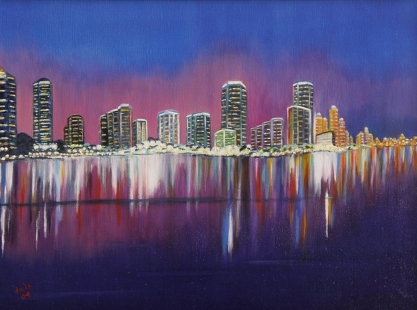 Douglas Ann Slusher - Miami Evening on the Bay