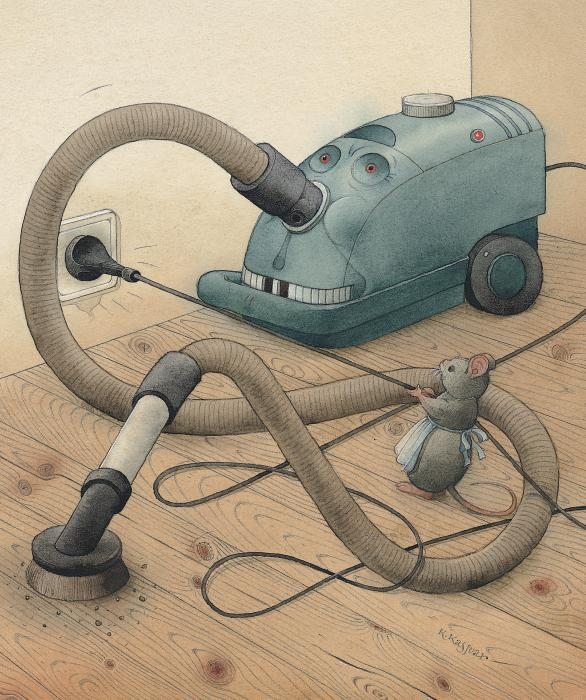 Mice And Monster Print by Kestutis Kasparavicius