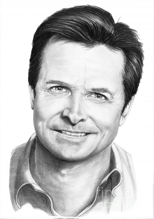 Michael J. Fox Print by Murphy Elliott