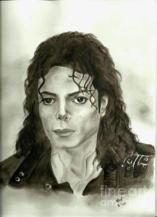 Michael Jackson - My Dreams My Life Print by Nicole Wang