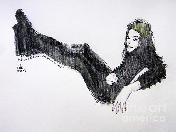 Michael Jackson - Turn It On Print by Hitomi Osanai