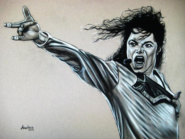 Michael Jackson Print by Anastasis  Anastasi