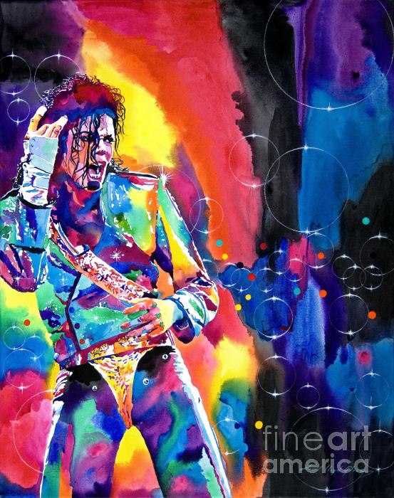 Michael Jackson Flash Print by David Lloyd Glover