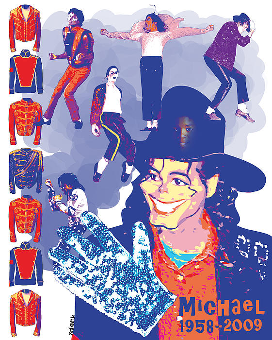 Michael Jackson Print by Mark Armstrong