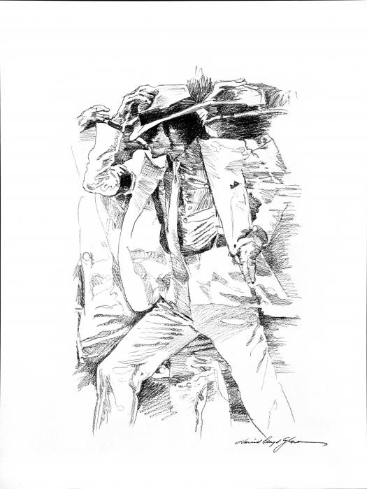 Michael Jackson Smooth Criminal Print by David Lloyd Glover