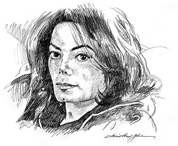 Michael Jackson Thoughts Print by David Lloyd Glover