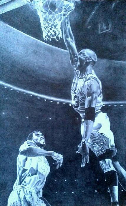 Michael Jordan - The Art Of His Airness Print by Damardre Williams