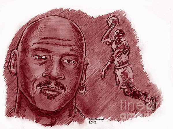 Michael Jordan Print by Chris  DelVecchio