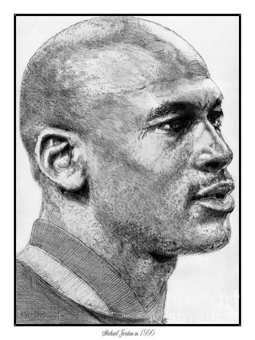 Michael Jordan In 1990 Print by J McCombie