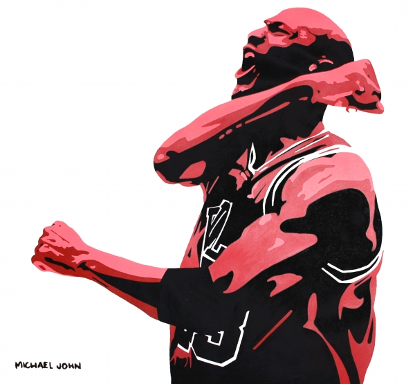 Michael Jordan Print by Michael Ringwalt