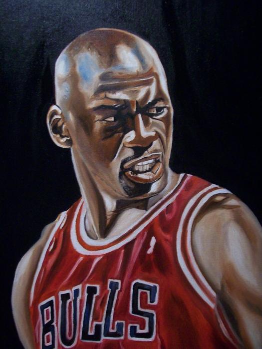 Michael Jordan Print by Mikayla Henderson