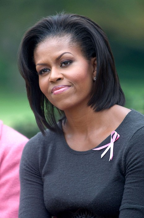 Michelle Obama At The Press Conference Print by Everett