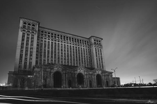 Michigan Central Station At Midnight Print by Gordon Dean II