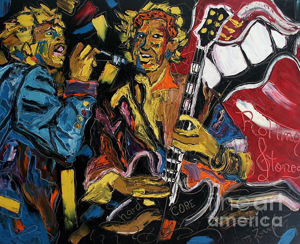 Mick And Keith Print by Wayne LE ONE