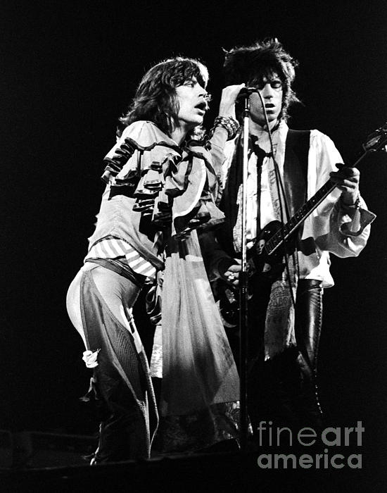 Mick Jagger And Keith Richards 1976 Print by Chris Walter