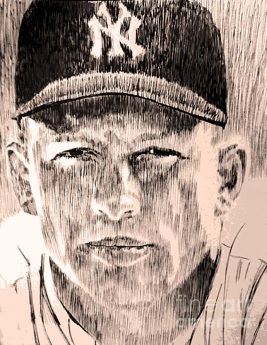 Mickey Mantle Print by Robbi  Musser