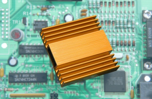 Microchip Processor Heat Sink Print by Sheila Terry