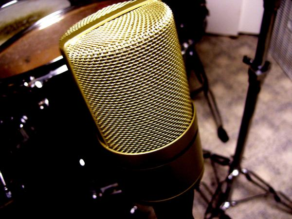 Microphone Print by Mike Grubb