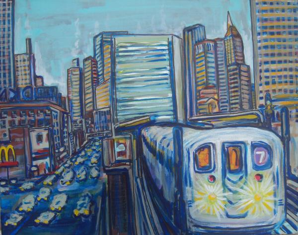 Mid-town Subway Tunnel Painting  - Mid-town Subway Tunnel Fine Art Print
