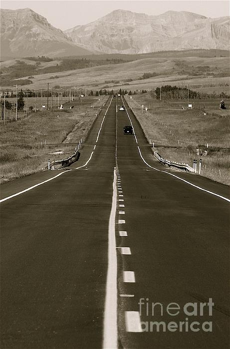 Middle Of The Road Print by David  Hubbs