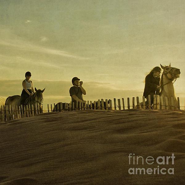 Midsummer Evening Horse Ride Print by Paul Grand