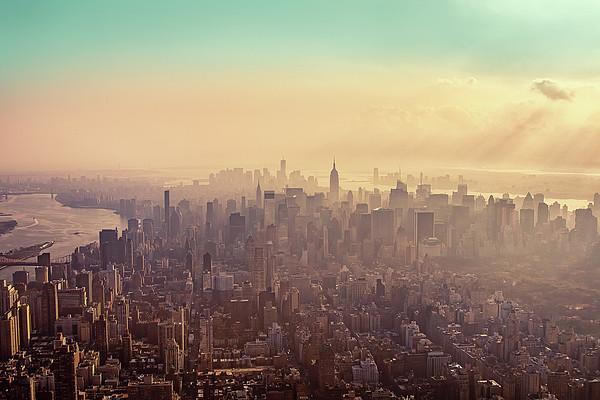 Midtown Manhattan At Dusk Print by Matthias Haker Photography