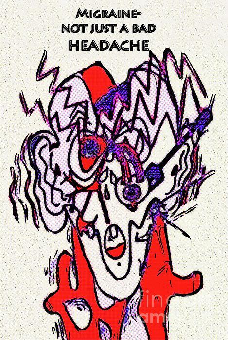 Migraine Print by Diane E Berry