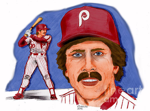 Mike Schmidt-color Print by Chris  DelVecchio