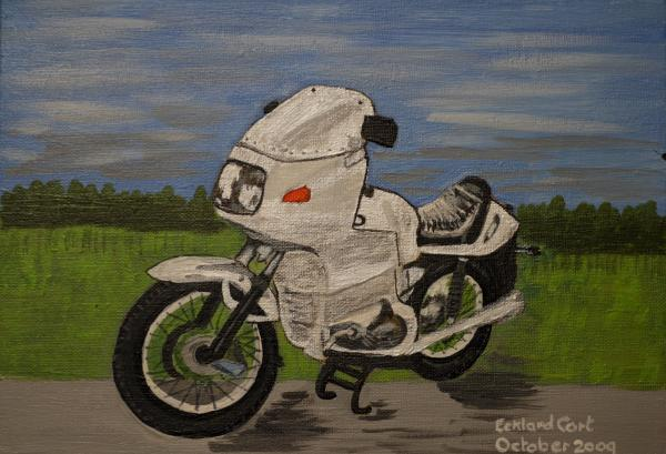 Mike's Bike 2 Painting - Mikes Bike 2 Fine Art Print.