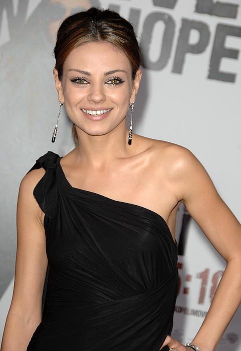 Mila Kunis Wearing Neil Lane Earrings Print by Everett