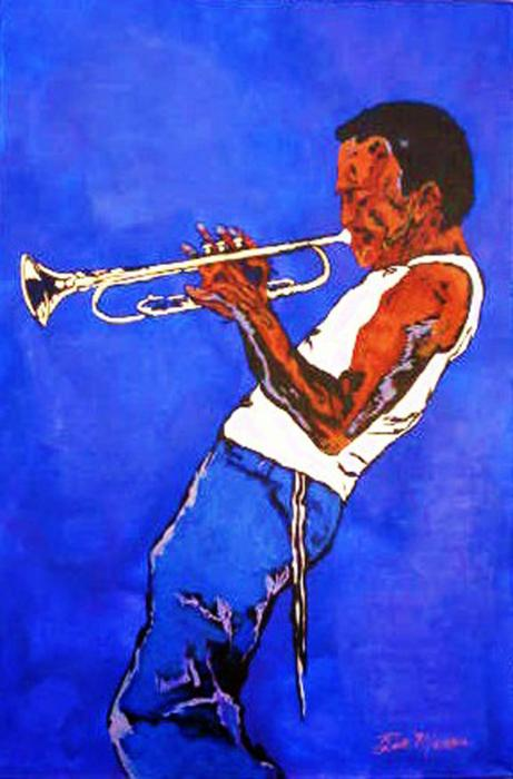 Miles Davis-miles And Miles Away Painting