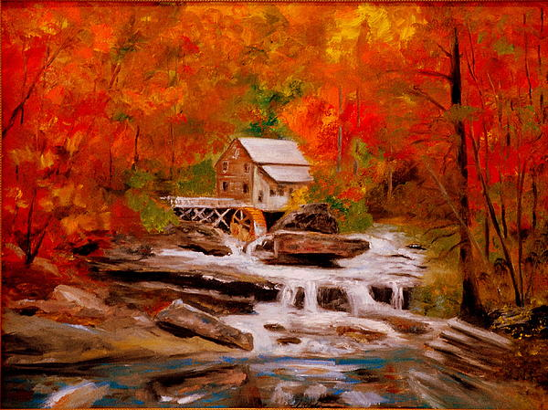 Mill Creek Painting  - Mill Creek Fine Art Print