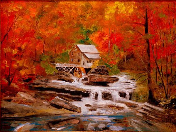 Mill Creek Print by Phil Burton