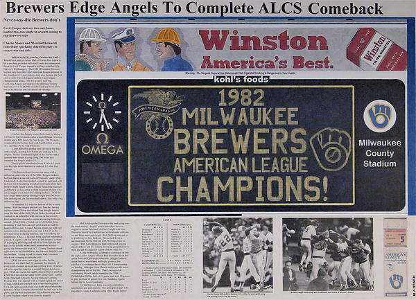 Milwaukee Brewers 1982 Al Pennant Print by Marc Yench